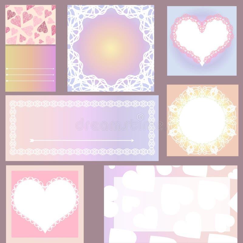 Комплект шаблонов для карточек, свадьба, приглашения дня рождения с оранжевым стоковые изображения