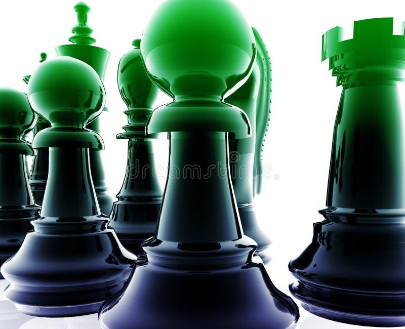 комплект шахмат иллюстрация штока