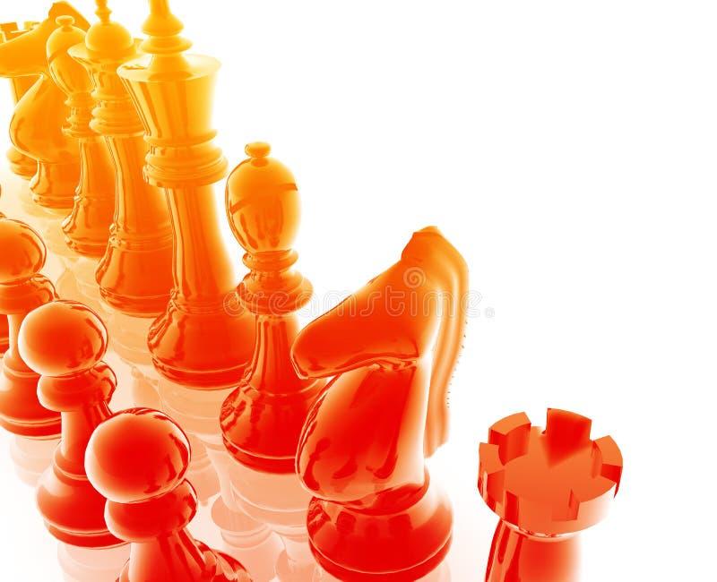 комплект шахмат иллюстрация вектора