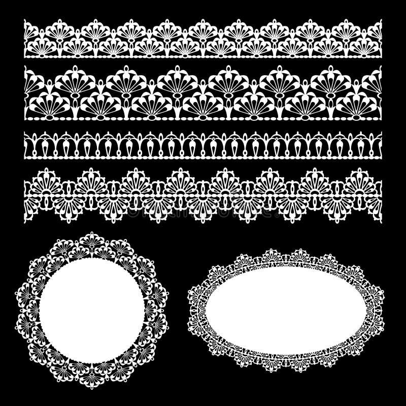комплект шнурка безшовный иллюстрация вектора