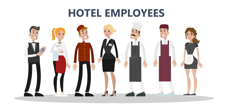 Комплект штата гостиницы бесплатная иллюстрация