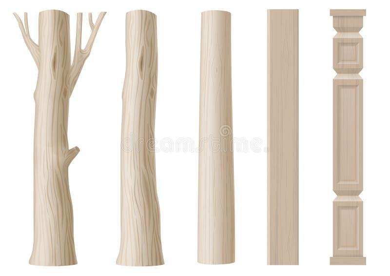 Комплект штендеров древесины бесплатная иллюстрация