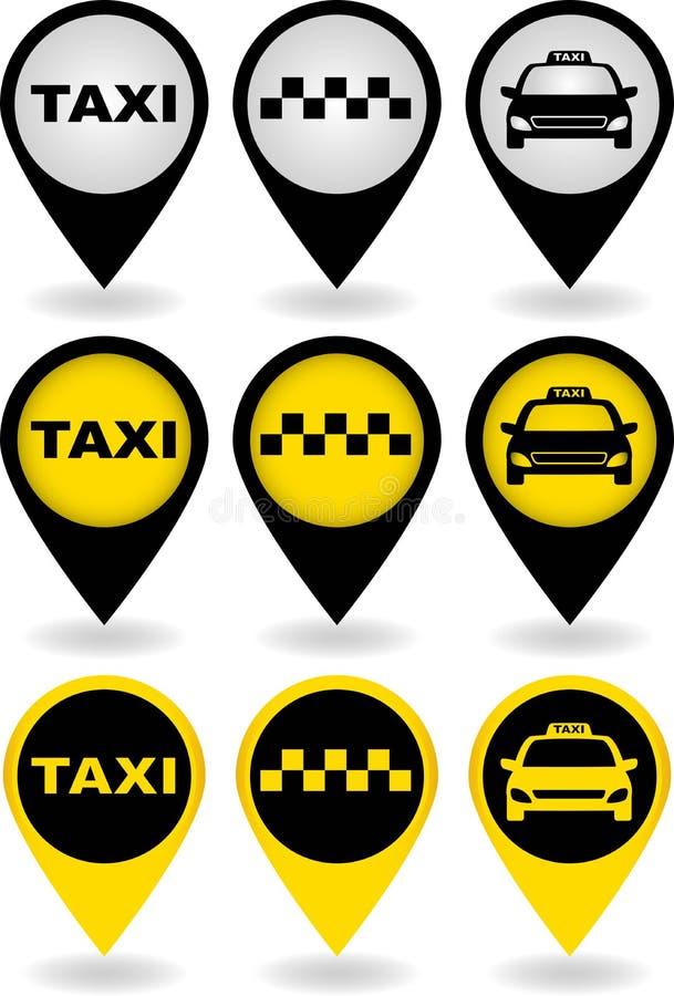 Комплект штырей таксомотора иллюстрация штока