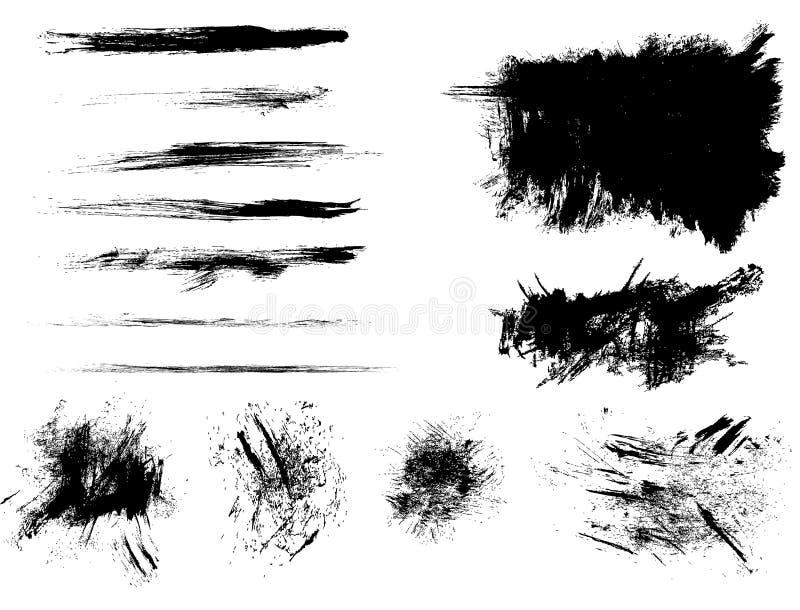 комплект щеток пятнает вектор текстур бесплатная иллюстрация