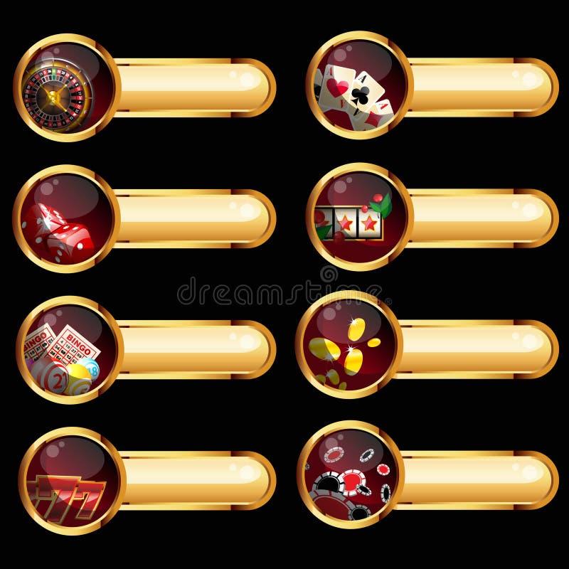 комплект элементов казино иллюстрация штока