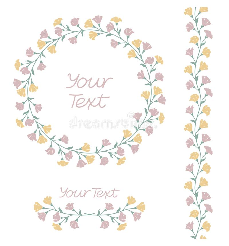 Комплект элементов флористического дизайна бесплатная иллюстрация