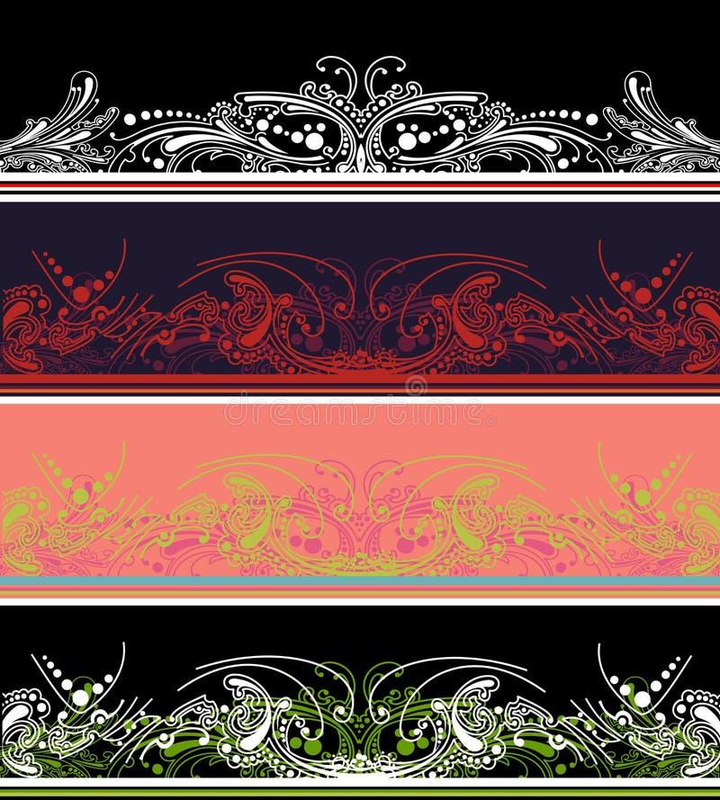 комплект элементов цвета 4 граници иллюстрация штока