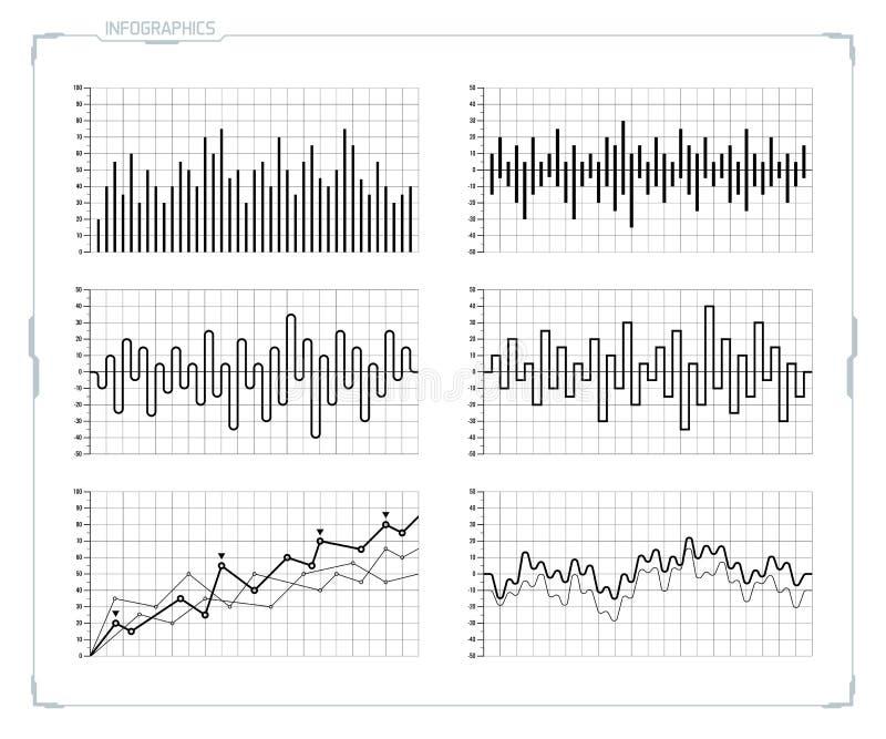 Комплект элементов infographics вектора футуристический HUD иллюстрация вектора