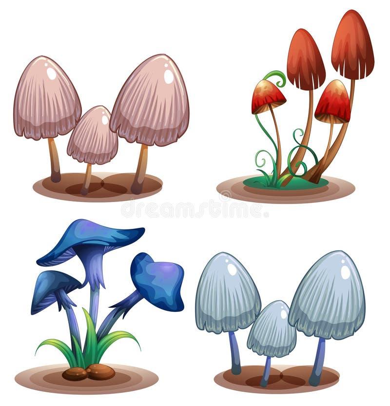 Комплект ядовитого гриба иллюстрация вектора