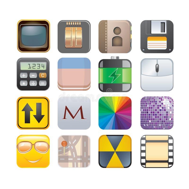 Комплект apps иллюстрация штока