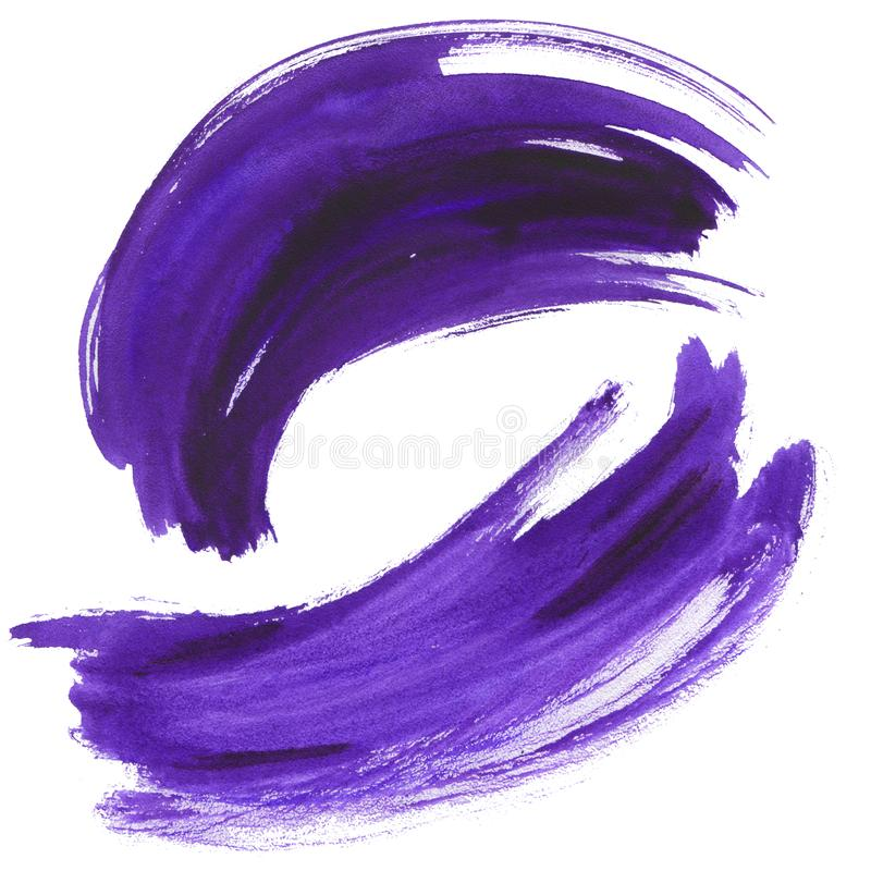 Комплект brushstroke акварели ультрафиолетов бесплатная иллюстрация