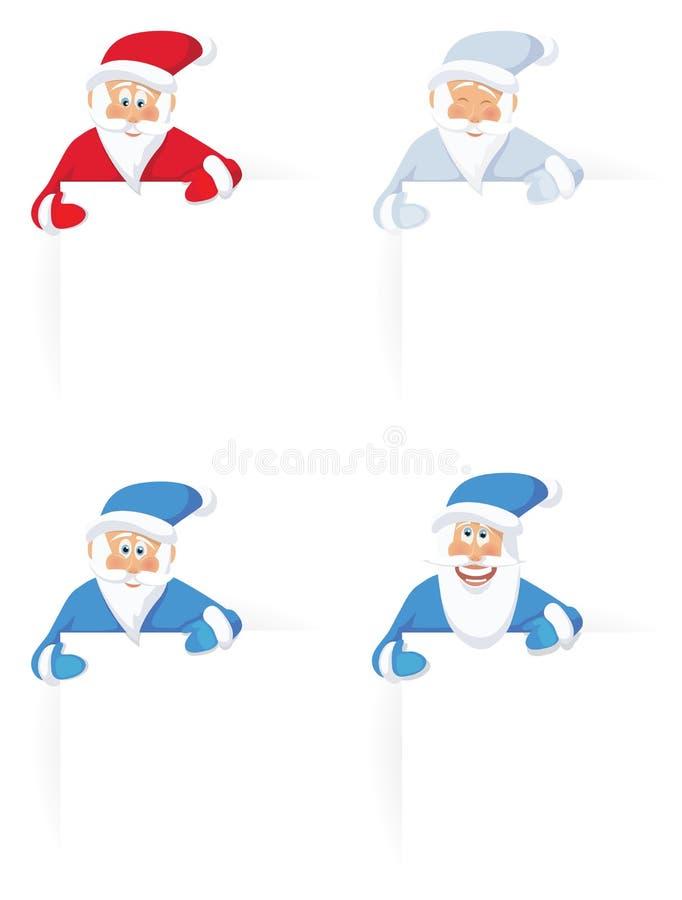 комплект claus santa иллюстрация штока