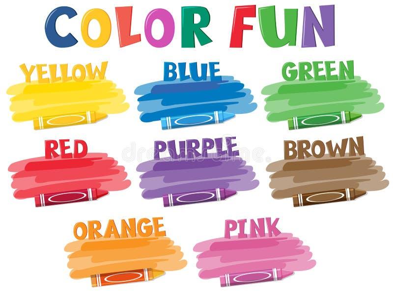 Комплект crayons цвета бесплатная иллюстрация