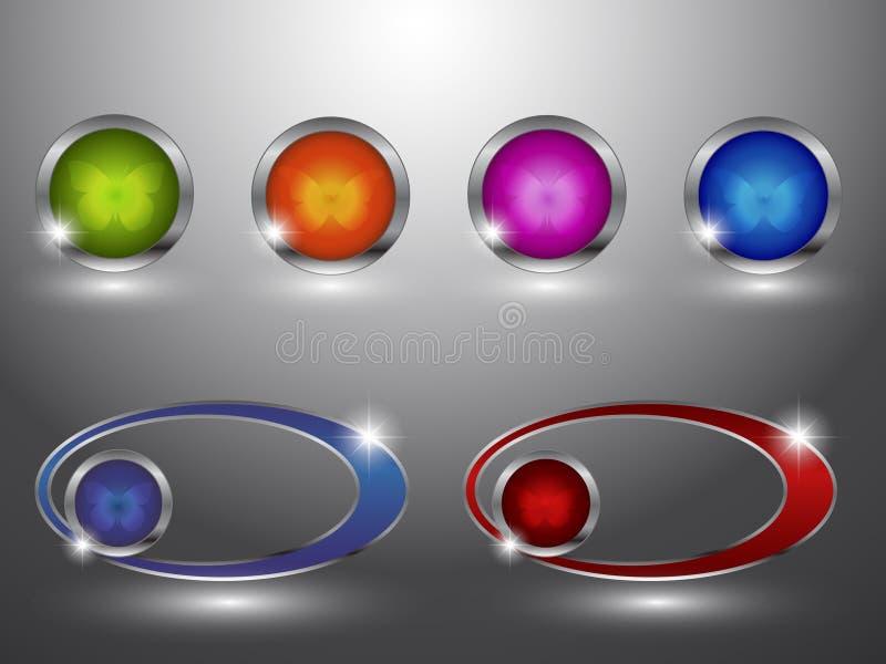 комплект download button1 лоснистый бесплатная иллюстрация