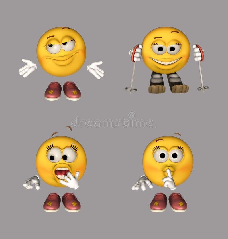 комплект emoticon бесплатная иллюстрация