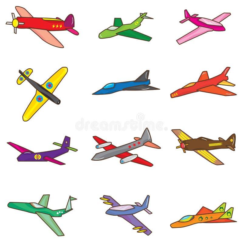 комплект eps аэроплана иллюстрация вектора