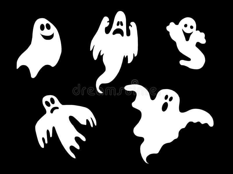 комплект halloween привидений иллюстрация штока