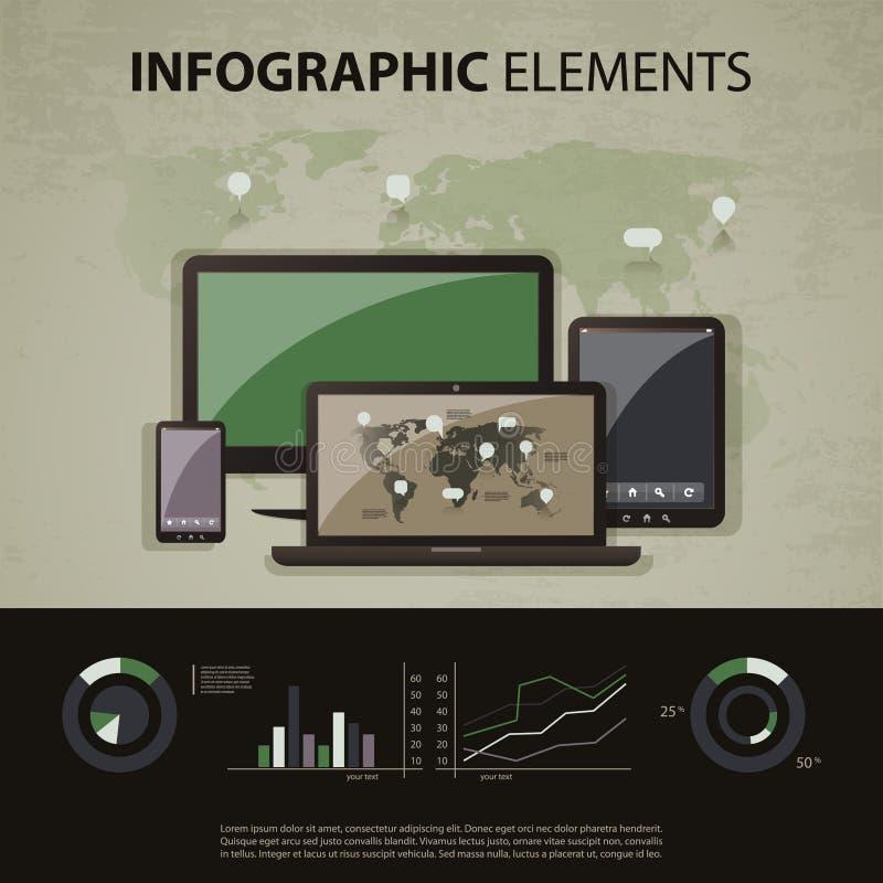 Комплект infographic элементов бесплатная иллюстрация