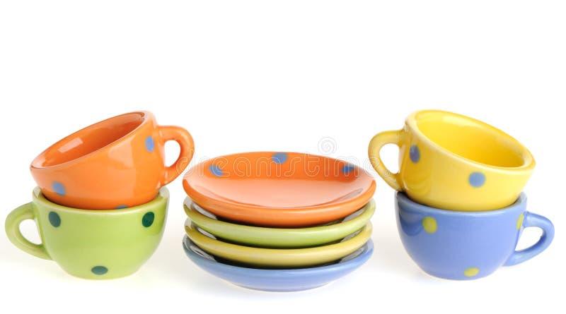 комплект kitchenware цвета стоковое фото rf