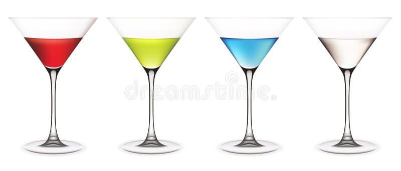 комплект martini стекел бесплатная иллюстрация