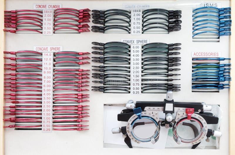 комплект ophthalmologist стоковое фото