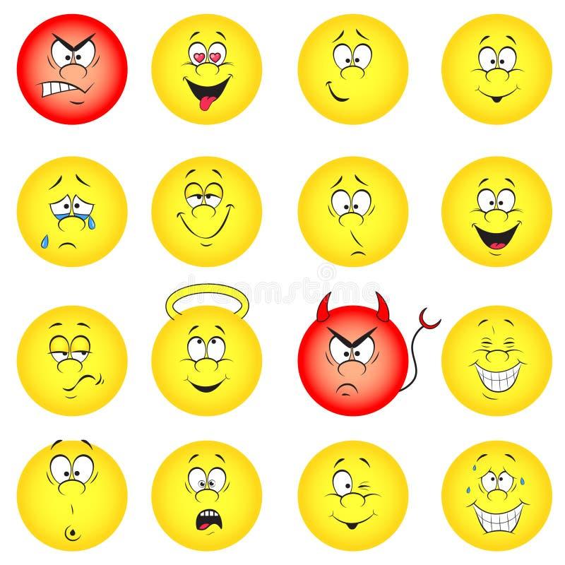 Комплект smileys бесплатная иллюстрация