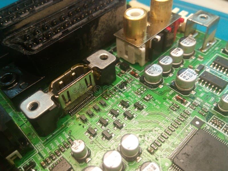 Компоненты видео- графиков ТВ электроники electro стоковое изображение rf