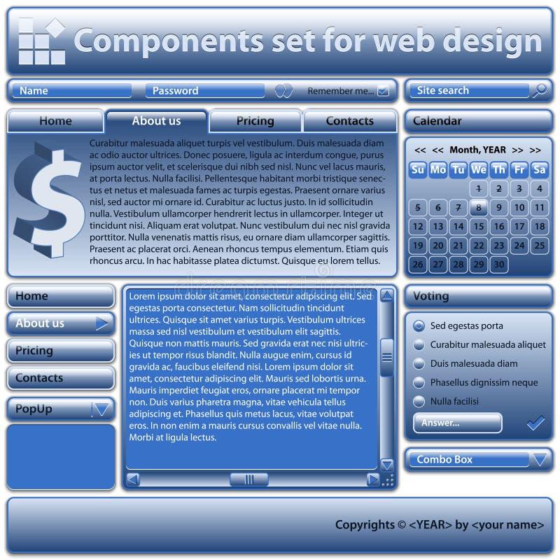компоненты конструируют сеть пользы комплекта иллюстрация вектора