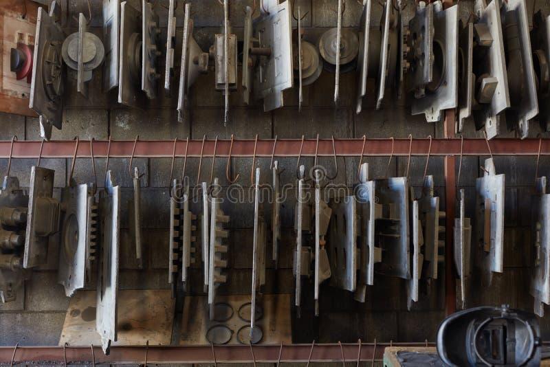 Компоненты фабрики конструкции металла стоковое фото rf