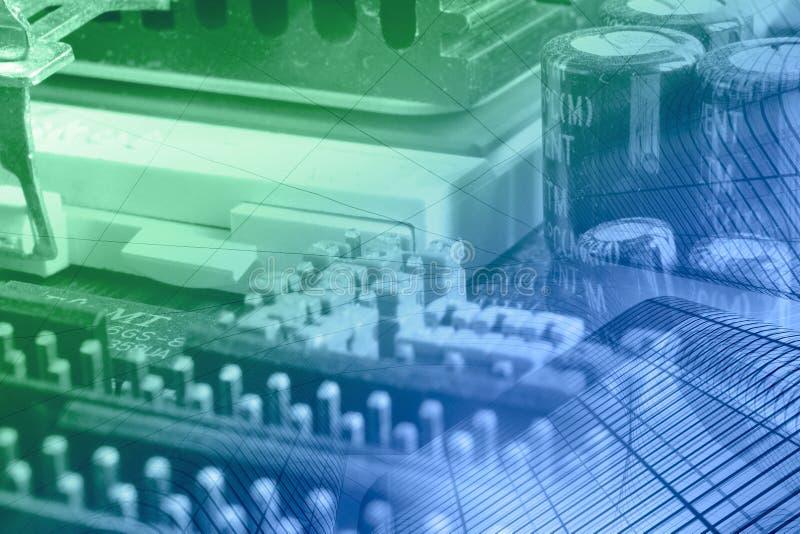 компоненты электронные стоковое изображение