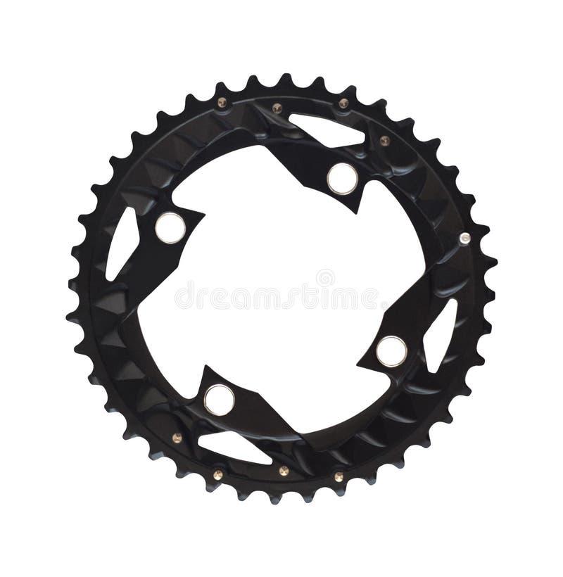 Компонент велосипеда chainring с зубами для велосипедов стоковое фото rf