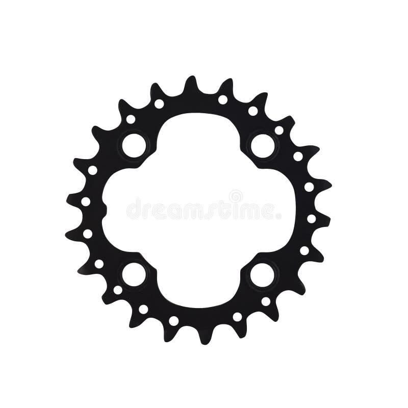 Компонент черного велосипеда chainring для велосипеда стоковое фото rf