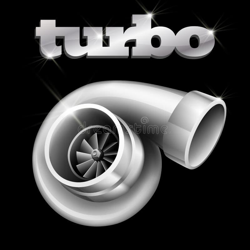 компрессор turbo автомобиля бесплатная иллюстрация