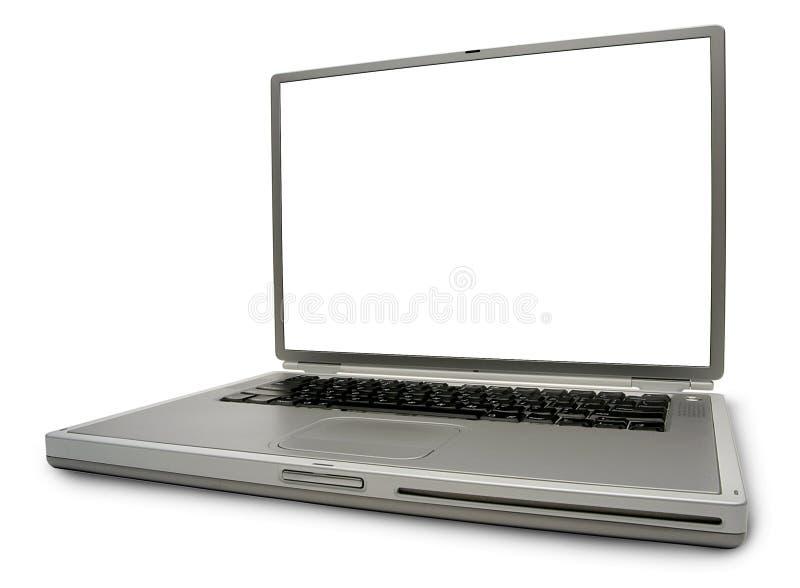 компьтер-книжка изолированная компьютером стоковые изображения