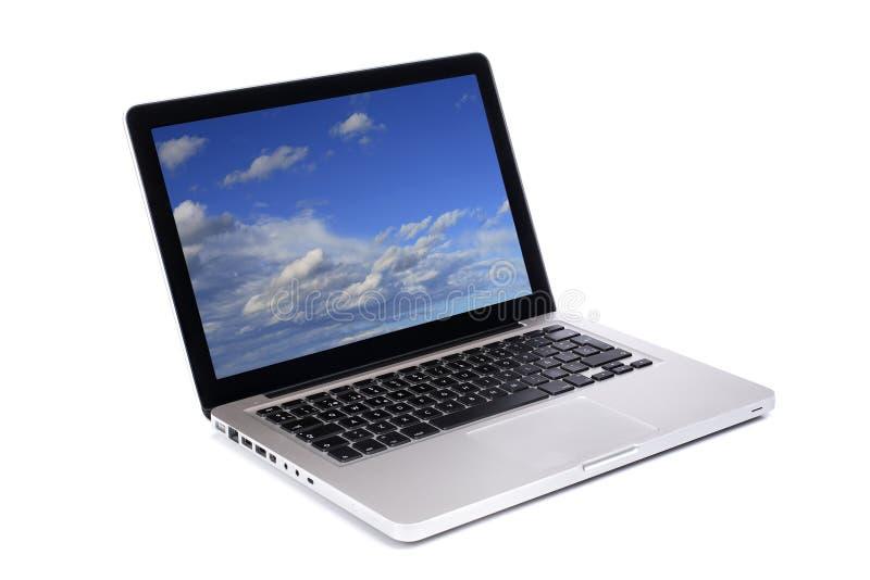 компьтер-книжка компьютера самомоднейшая стоковые фото