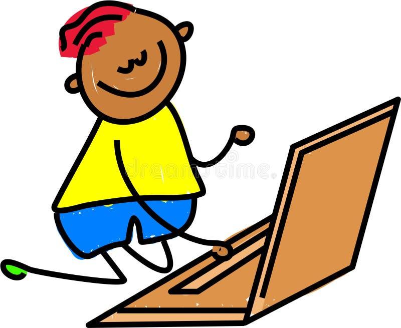 компьтер-книжка малыша бесплатная иллюстрация