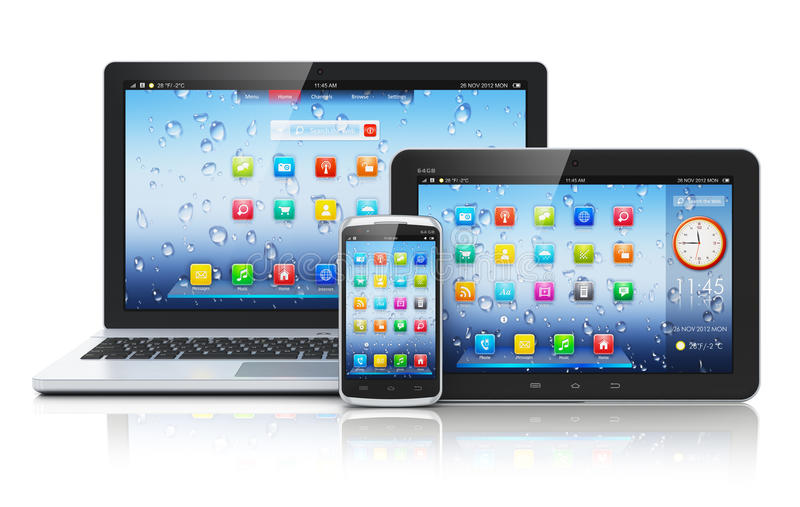 Компьтер-книжка, ПК таблетки и smartphone