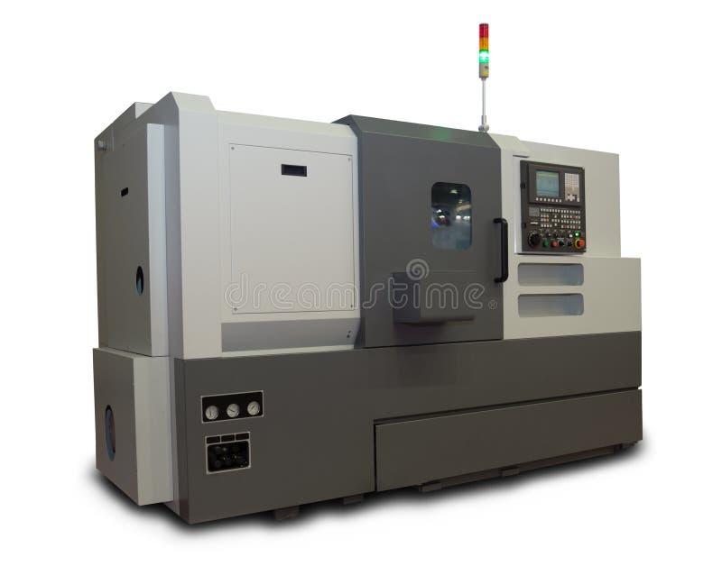 Компьютеризированный токарный станок стоковое изображение