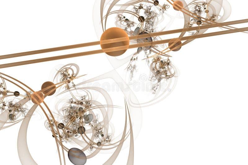Компьютерная графика: Мраморы на линиях и кривые с цветками иллюстрация штока