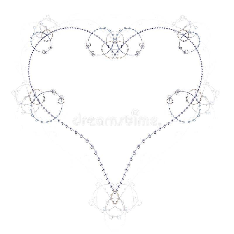 Компьютерная графика: Сердце - романтичное и ностальгическое иллюстрация штока