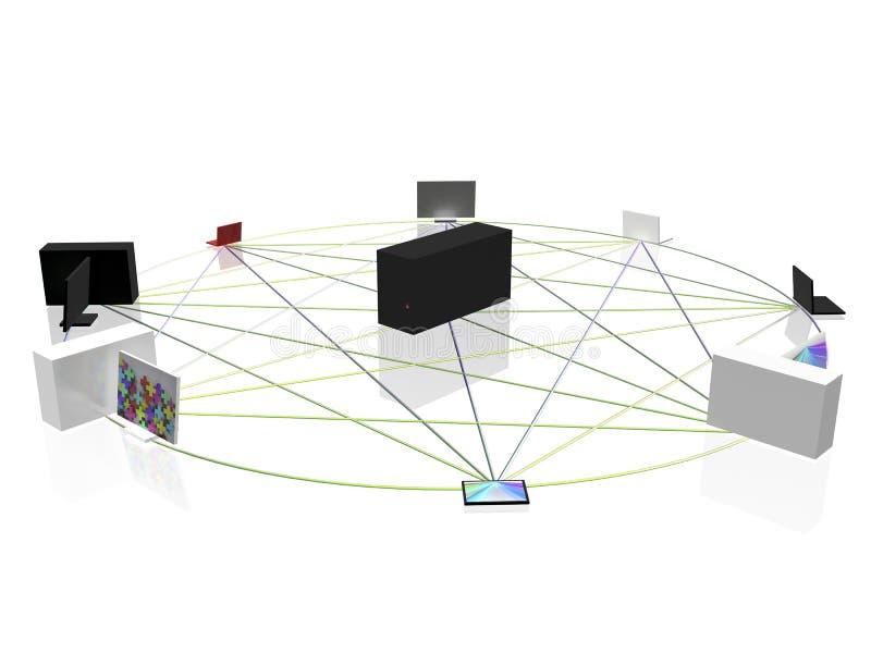 компьютерная сеть бесплатная иллюстрация