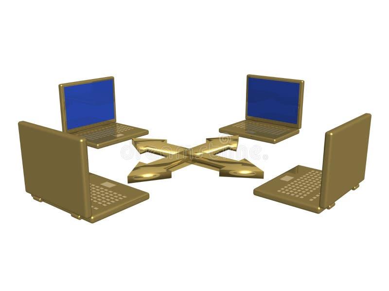 компьютерная сеть иллюстрация вектора