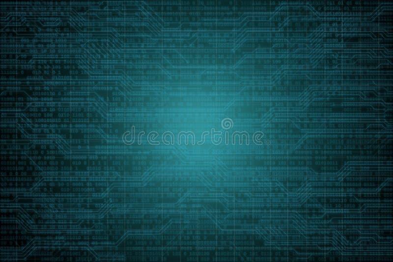 Компьютерный хакер в маске и hoodie над абстрактной бинарной предпосылкой Затемненная темная сторона Похититель данных, очковтира стоковое фото
