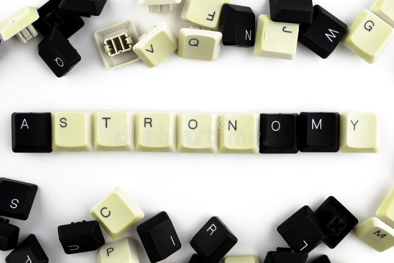 Компьютеры и компьютерные технологии в индустриях и полях человеческой деятельности - концепции astrix Слово клало вне на белизну стоковые фотографии rf