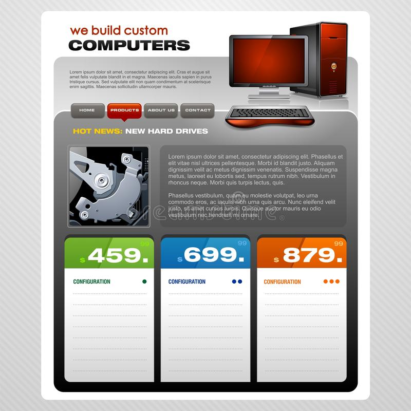 компьютер брошюры иллюстрация вектора