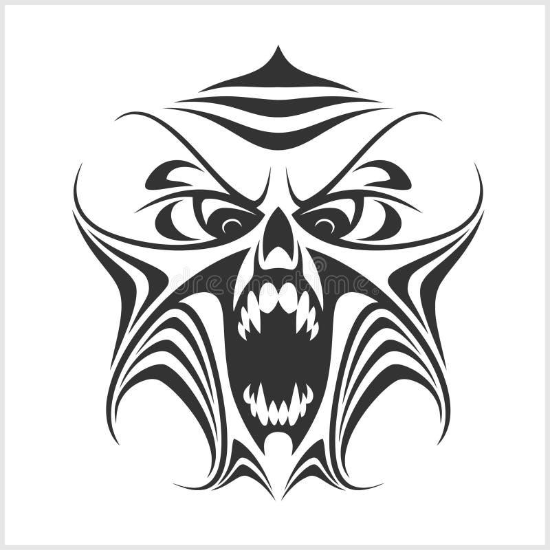 Компьютер вируса демон фантом _ хищник иллюстрация штока