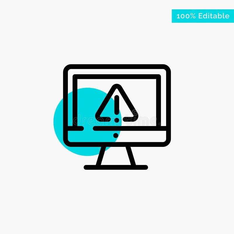 Компьютер, данные, информация, интернет, значок вектора пункта круга самого интересного бирюзы безопасностью иллюстрация вектора