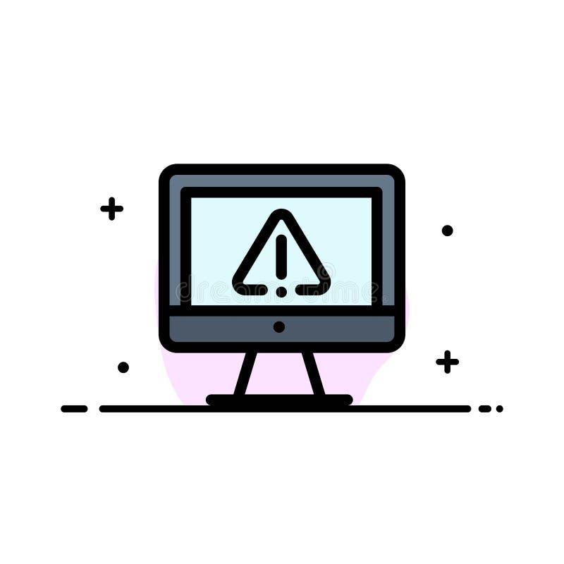 Компьютер, данные, информация, интернет, линия бизнеса безопасности плоская заполнил шаблон знамени вектора значка иллюстрация штока