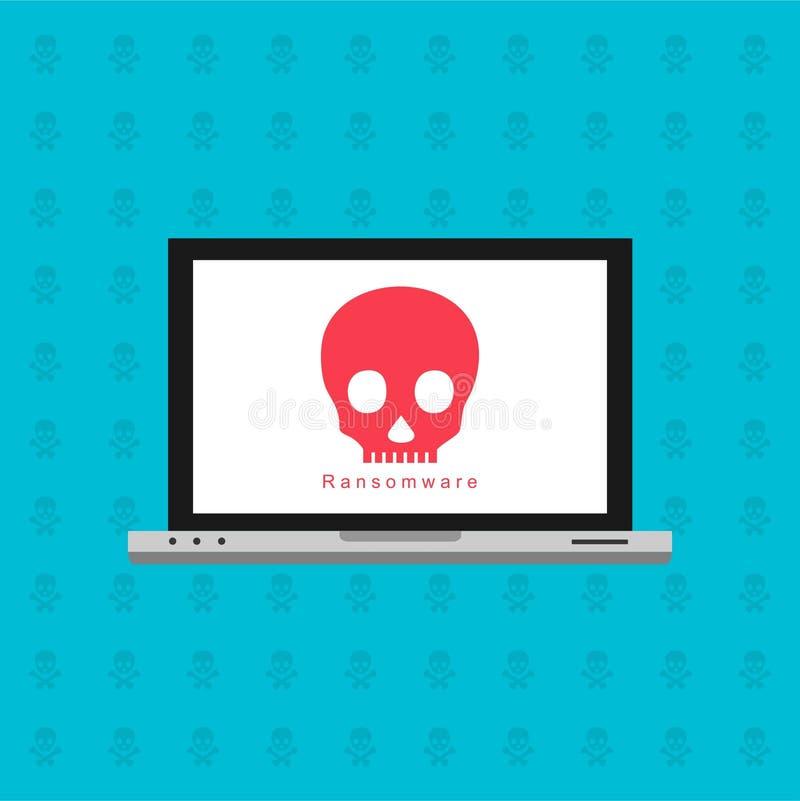 Компьютер деятельности при хакера Бдительное уведомление на векторе мобильного телефона, концепции malware, данных по спама, ошиб бесплатная иллюстрация