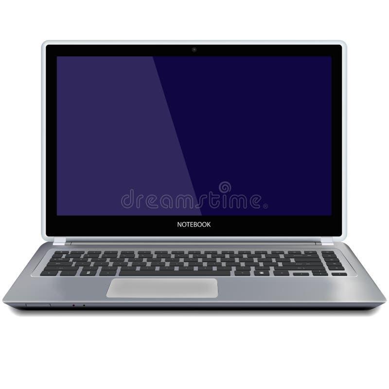 Компьютер-книжка с пустым экраном иллюстрация штока